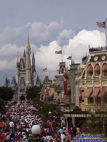 magic kingdom castle at night. Castle with Flags amp; Clouds